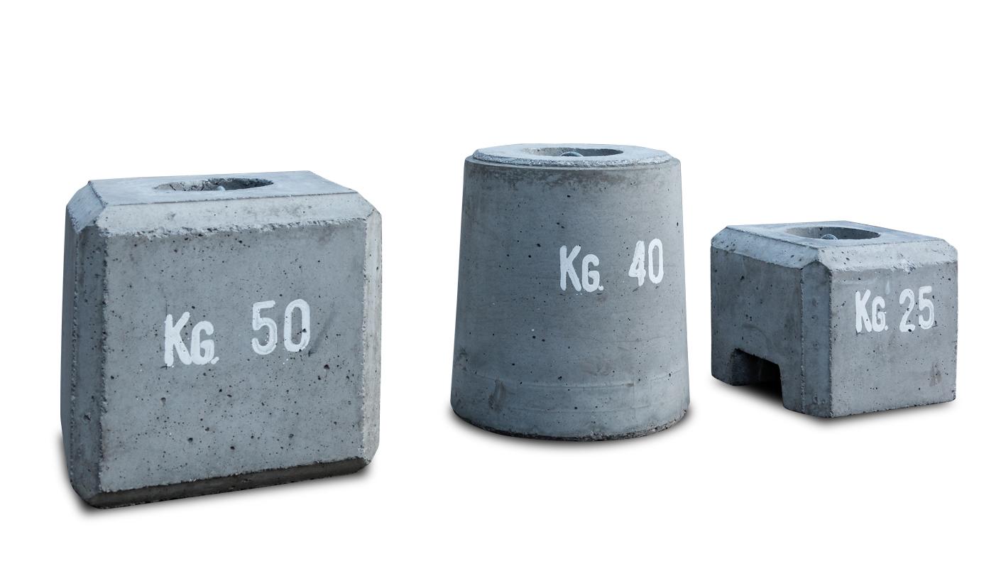 zavorre in cemento per tendostrutture